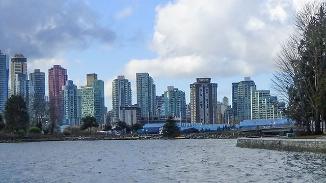 Stanley Park Seawall Overlooking Downtown